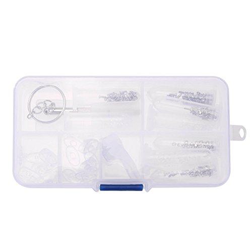 Trixes Reparaturset für Brillen und Sonnenbrillen Reparatur Set Kit Nase mit viel Zubehör Schraubendreher Pads Schrauben Muttern Scheiben etc.