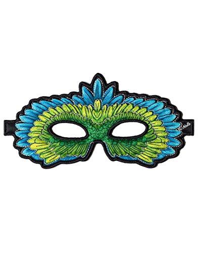 Dreamy Dress-Ups 50792Mask, Stoffmaske, Green Parrot, Vogel Papagei Edelpapagei Eclectus (Grüne Vogel Flügel Kostüm)