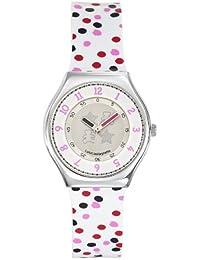 Lulu Castagnette - 38708 - Montre Femme - Quartz Analogique - Cadran Blanc - Bracelet Plastique Multicolore