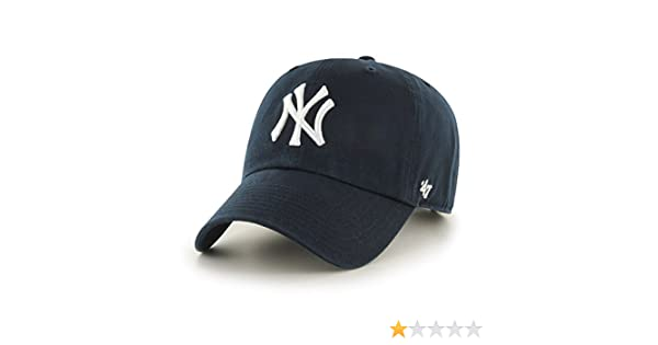 9efc420fcb226 Buy MLB New York Yankees Men's '47 Brand Home Clean Up Cap, Navy, One-Size  Online at Low Prices in India - Amazon.in