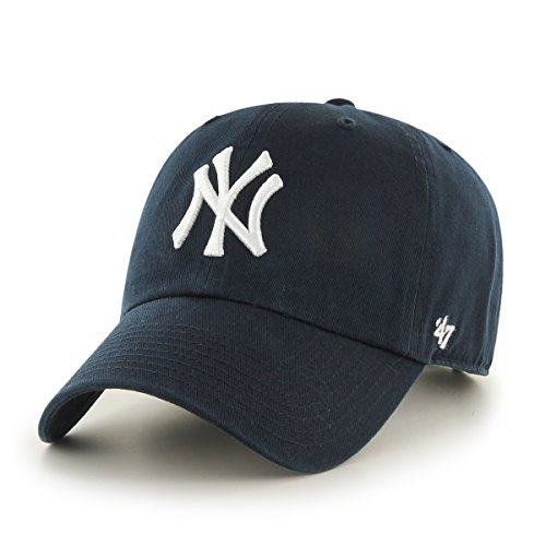 47 Brand Erwachsene Kappe MLB New York Yankees Clean Up, Navy, OSFA, B-RGW17GWS-HM