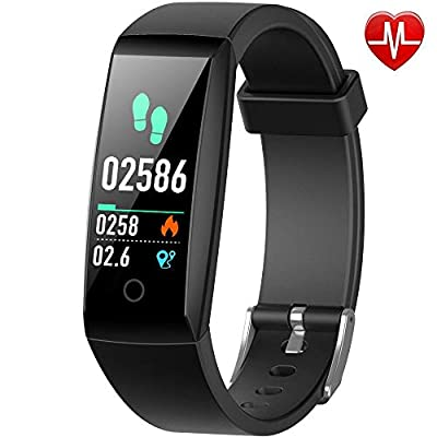 Yacikos Fitness trackers, Heart Rate Activity Tracker Fitness Watch Waterproof IP67 Blood Pressure Pedometer Smart Watch Bracelet Sleep Monitor Stopwatch For Men Women for iOS Android from Yacikos