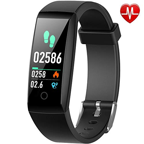Yacikos Fitness trackers, Heart Rate Activity Tracker Fitness Watch Waterproof IP67 Blood Pressure Pedometer Smart Watch Bracelet Sleep Monitor Stopwatch For Men Women for iOS Android