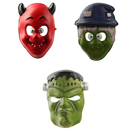 Altsommer Halloween Cosplay Masquerade Mask  Halloween Funny Diversity Fancy Ball Simulation Fancy Dress Party Dress Mask With Wimple Costume for Party  Red Monster