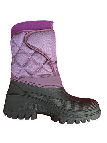 NEW Mesdames équitation Étanche stable Marche pluie neige Ski Hiver Chaud Ferme en bottes Noir - violet