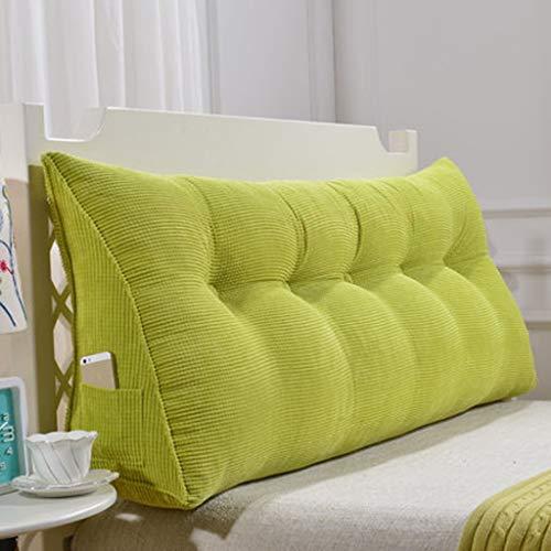 Xuping Dreieck Kissen Kissen große rückseite Bett weiche Tasche Kissen doppelbett Bett große Kissen Lesung büro Kissen Taille pad kann gewaschen Werden (Color : Green, Size : 70CM) Taille Pad