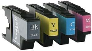 Cartouche jet d'encre pour imprimante remplace cartouche brother cB1280 cB1220 cB1240 lot de 4 cartouches d'encre pour brother dCP-j525W dCP-j725DW dCP-j725N dCP-j525N dCP-j625DW