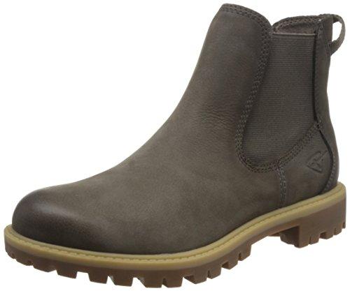 Tamaris Damen 25401 Chelsea Boots, Grün (Cigar), 36 EU (Leder Braun Boots)
