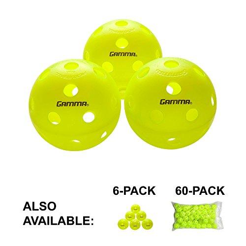 Gamma Sports Photon Innen pickleballs, High-Vis Optik grün usapa zugelassen Pickleball Kugeln (3Pack, 6Pack, 60Pack), Photon Indoor Pickleball Balls, 3 Stück