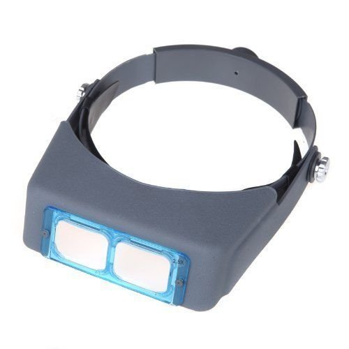 Lukuki 1.5 X 2X 2.5 X 3.5X Double Lens Head-mounted Headband Reading Magnifier Loupe (Buckle Assembly)