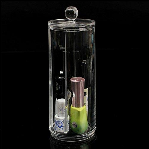 Bluelover Acrylique Transparent Make Up Coton Pad Organisateur Cosmétique Présentoir Maquillage De Rangement Étui