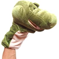 MuSheng(TM) Cute Crocodile Plush Animal Finger Puppet Doll Full Body Hand Puppet Toys For Baby Kids Children Play Learn Story Toy Gift