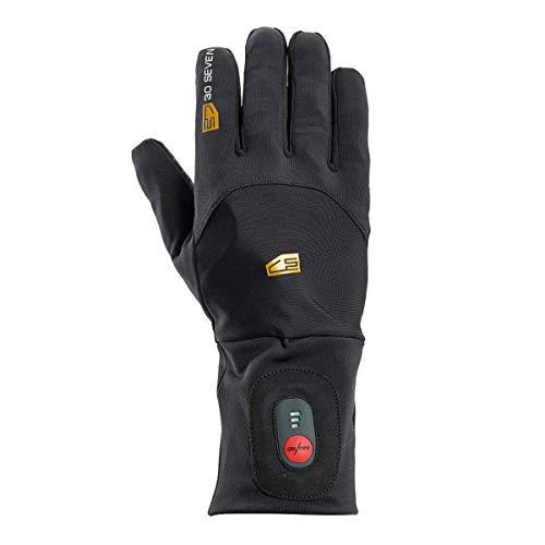 30seven–Radiador Guantes Interiores Liner Debajo del guante, otoño/invierno, color negro, tamaño extra-small