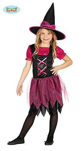 Guirca Schwarz Pinke Hexe Hexenkostüm für Mädchen Gr. 98-146, Größe:98/104