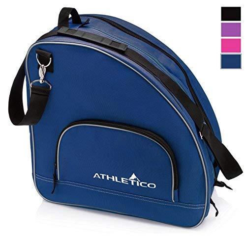 Athletico Schlittschuhtasche - Premium Tasche zum Tragen von Schlittschuhen, Rollschuhen, Inlineskates für Kinder und Erwachsene, blau