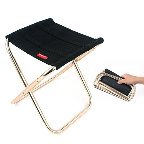 Pawaca sgabello ppieghevole da campeggio all'aperto portatile sedia pieghevole in alluminio oxford per campeggio, pesca, escursionismo