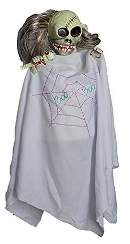 Scary Halloween Party House Stimme aktiviert weiße Hexe Geister Horror Prop Zubehör