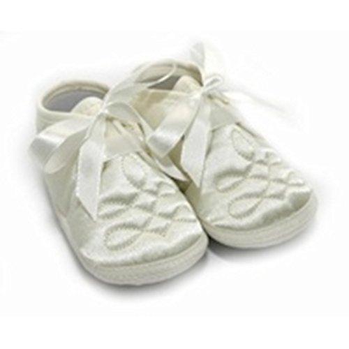Chaussures de baptême - Bébé unisexe (Taille 3: 12-18 mois) (Crème) Crème
