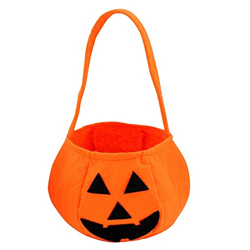 PerGrate Halloween Faltbare Kürbis-Jack-Laternen-Taschen-Süßigkeits-Geschenk-Korb-Festlichkeit oder -