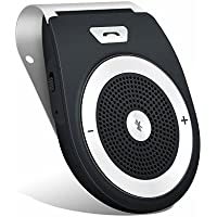 Andven Vivavoce Bluetooth 4.1 da Auto con Controllo Vocale, Car Bluetooth per Speaker, Kit Vivavoce Bluetooth per Smartphone - Nero