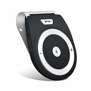 Aigoss Vivavoce Bluetooth 4.1 da Auto con Controllo Vocale, Car Bluetooth per Speaker, Kit Vivavoce Bluetooth per Smartphone - Nero