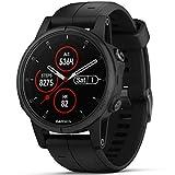 Garmin Fēnix, 5S Plus, Sportuhr, Bluetooth, 240x240Pixel, schwarz