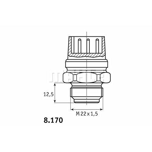 ventilateur de radiateur Behr Thermot-Tronik TSW 48D Interrupteur de temp/érature