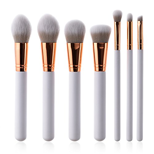 Fablcrew Grau Farbe Pinsel Make up für den professionellen Make-up-Pinsel Gesichtsbürste Kosmetikpinsel 7 Stück Set