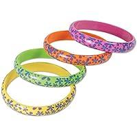 Bristol Novelty BA1078 Hippy Flower Bracelets, One Size