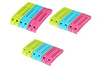 VDNSI Plastic Food Snack Bag Pouch Clip Sealer, Multicolour