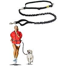 Hertzko - Correa manos libres para perros - Para mayor libertad al caminar, correr o hacer senderismo con el perro - Fuerte, duradera y resistente a las inclemencias del tiempo - Estándar - Correa de 91,5 cm