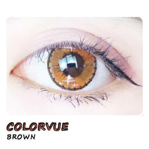 weiche Farblinsen Kontaktlinsen farbig + Behälter 1 Paar (2 Stück) ohne Stärke I 0.00 Dioptrien COLORVUE BROWN
