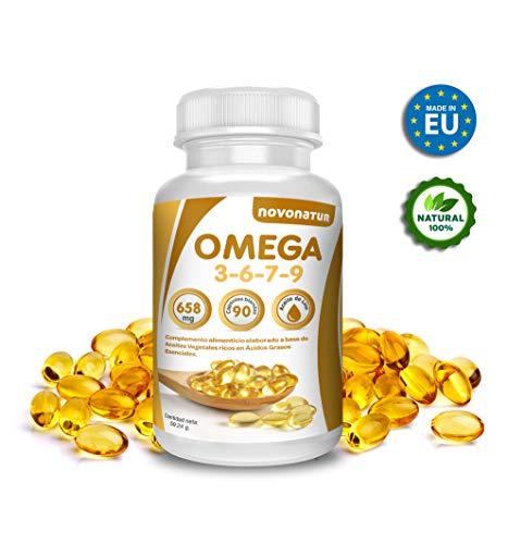 Omega 3 6 7 9, 90 perlas enriquecidas aceite lino