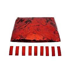 Idea Regalo - EUTOPICA Coriandoli Rettangolari, luminosità, 2 x 5 cm (1 kg.) (Rosso)
