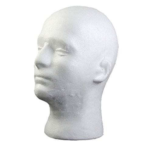 Male Styrofoam Foam Mannequin Manikin Head Model Wig Glasses Hat Display Stand Test
