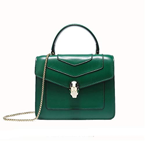 LBYMYB Modekette Python Kopf Schulter Leder Kleine Quadratische Tasche Handtasche - Python-leder-schulter-handtasche