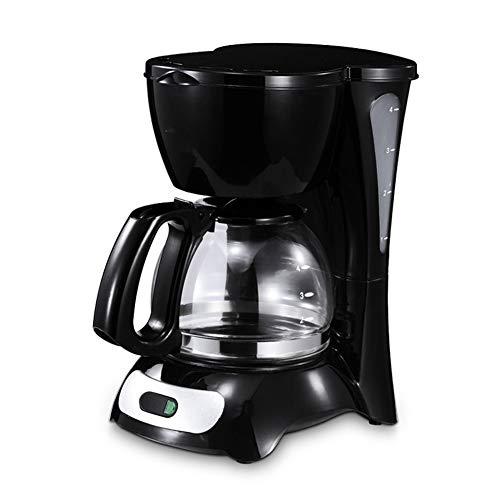 Macchina da caffè a filtro, caffettiera programmabile da 600 ml con funzione antigoccia, 650 w, nera