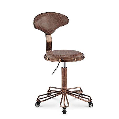 LFNIU Schönheitsstuhl, Retro-Laborstuhl, Hocker, Klapphocker, Klapphocker, Barhocker, Friseur-Spezialstuhl, 2 Farben (Farbe: A) (Antik Stühle Friseur)