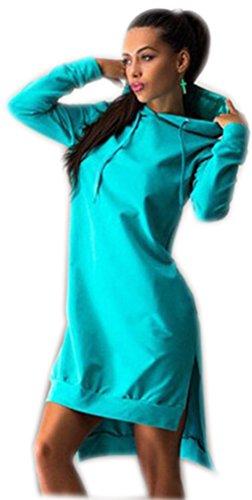 Pullover Damen Lange Hoodie Hoodies Für Damen Kleid Modische Pullover Kleid Damen Sweatshirt Pullis Sweatshirts Jacken Coole Oversize Rollkragenpullover Lake Blau XL