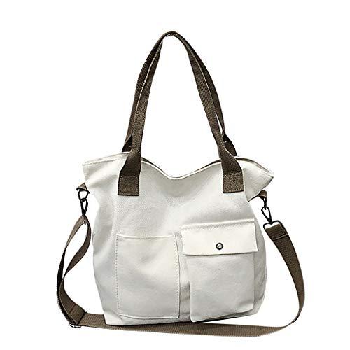 Unisex Fashion Solid Soft Casual Tasche Canvas Bag Umhängetasche Umhängetasche
