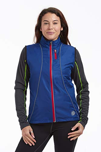 Time To Run - Gilet da Corsa Antivento Donna 38 Profund Blu