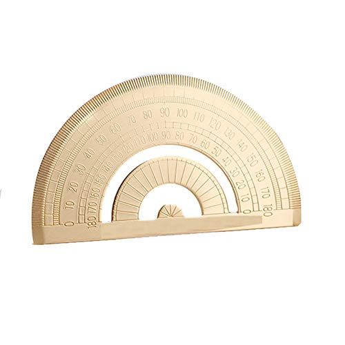 Super Durable Brass Protractor Metal Angle Measure Tool Brass Rule Graphometer Stationery for Math Geometry Best Gift for Children and Student
