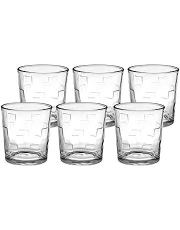 cfcbeb86f6a Amazon Brand - Solimo Amaya Whisky Glass Set, 285ml, Set of 6, Transparent