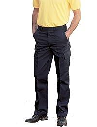 Uneek Mens Cargo Workwear Combat Multi Pocket Action Trousers UC902, Black, Navy