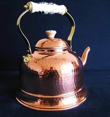 Traditionnelle en cuivre-bouilloire/théière 1,5 l-zinnbelag intérieur