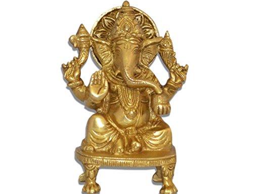 Ganesh, Ganpati, estatua de bronce escultura religiosa hecha a mano in