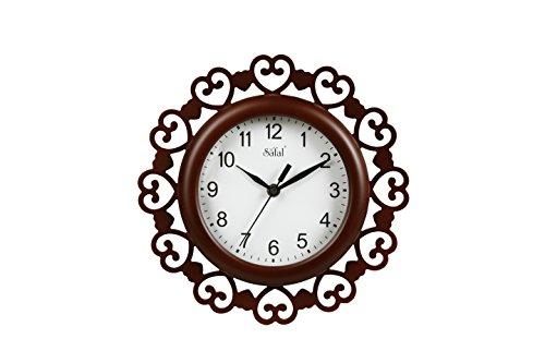 Safal Majestic Look Designer MDF Clock (23 cm x 23 cm x 6 cm, Brown)