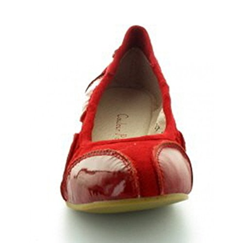 Ballerine Couleur Pourpre Rouge Rouge