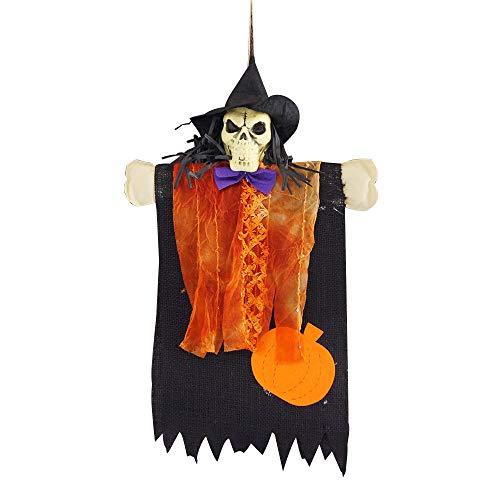QinMM W Halloween Wohnkultur,1 stücke Halloween Requisiten Papier Durable Anhänger Tag für Ghost Festival KTV Bar Garten (Papier Tasche Kopf Kostüm)