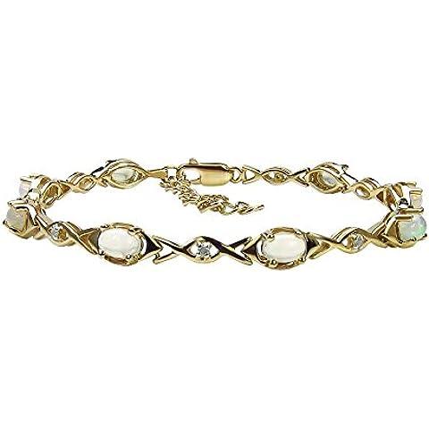 Goldancé - Bracciale da Donna argento sterling 925 placcati in oro vero Opale etiope - B507ETHOP_SGP